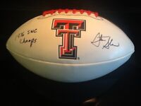 Steve Sloan Signed Texas Tech Red Raiders 1976 SWC Champs Football (Last Champs)