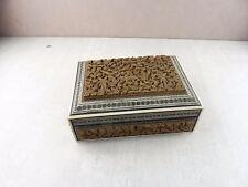 Ancienne boite sculptée et marqueterie, époque Napoléon
