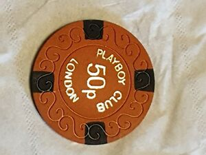 Playboy club 50p casino chip London.  Excellent condition.