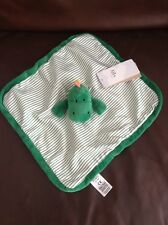 Marks And Spencer Green Dinosaur Baby Comforter Comfort Blanket Soft Toy New M&S