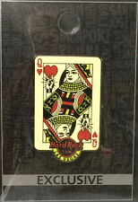 Hard Rock Cafe LAS VEGAS 2017 PLAYING CARD Queen of Hearts Core City PIN on CARD