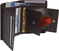 Leder Geldbörse DUKATEN Espresso 8,5x11 persofähig! Wiener Schachtel Braun