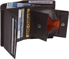LEDER Geldbörse DUKATEN braun 8,5x11 persofähig! Wiener Schachtel Geldbeutel