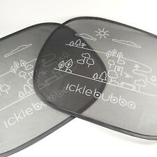 Ickle Bubba Baby Black Car Window Shades Visors x 2 Suction Cups - Childrens NEW