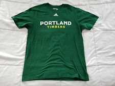 Men's Adidas Portland Timbers Large T-Shirt MLS Green Short Sleeve Tee Crew Neck
