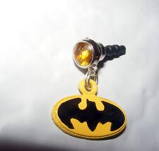 Batman Yellow Dainty Cell Phone Dust Plug