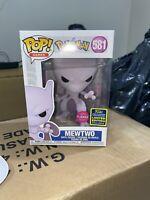 Funko POP! Pokemon Mewtwo FLOCKED #581 2020 SDCC Exclusive