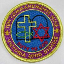 Victoria Diocese (TX) 2000 Ten Commandments Hike Pocket Patch  BSA