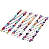 100 Stueck Kugel Zunge Ring Zungenpiercing Koerper Piercing - Multifarben  GY