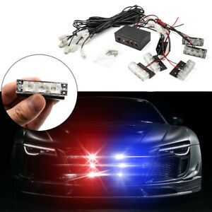 LED Strobe Dash Emergency Flashing Warning Lights for Car Grille Truck Police