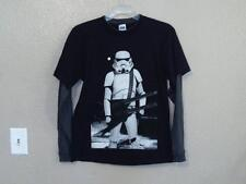 NEW STAR WARS STORMTROOPER blk/gry graphic shirt YOUTH size L LARGE (14/16) 64LA