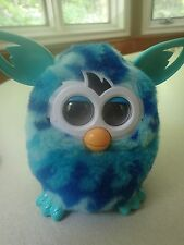 Hasbro Furby BOOM Talking Electronic Toy 2012 Aqua & Blue Color Works Great!