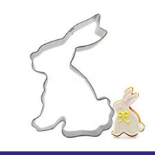 2 Pcs Packed White Rabbit Stainless Steel Cookie Dessert Fruit Cutter DIY Mold