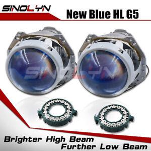 "Bi-xenon G5 D2S D4S D1S D3S Retrofit 3.0"" Projector Blue Lens For Auto Headlight"