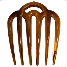 Tort Brown Wide Tooth Side Hair Combs Slides Clips Hair Accessories
