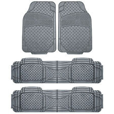 4pcs Floor Mats for Auto Car SUV Van Semi-Custom Trimmable Vinyl Floor Mat 3 Row