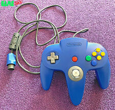 OFFICIAL NINTENDO 64 N64 CONTROLLER BLUE GENUINE FULLY TESTED GOOD STICK