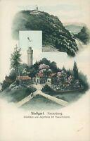 Ansichtskarte Stuttgart um 1900 Hasenberg Waldhaus Jägerhaus Turm (Nr.790)