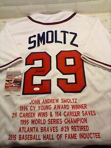 John Smoltz Autographed Signed Atlanta Braves CareerStatistics RARE Jersey! JSA