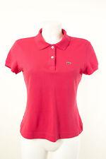LACOSTE Poloshirt Gr.F 42 / DE 40 Damen T-Shirt Baumwolle Freizeit-Shirt Kurzarm