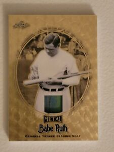 2019 Leaf Babe Ruth Metal CollectionGold Circles Yankee Stadium Seat Card 1 of 1
