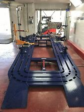 22 Feet Long Auto Body Frame Machine Rack 3 Towers With Clamps Tools Cart