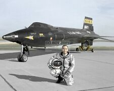 Air Force Test Pilot Pete Knight In Front Of The X-15A - 8X10 Photo (Aa-387)