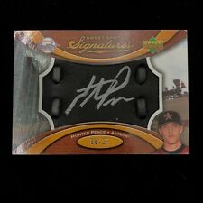 2007 Hunter Pence Sweet Spot Signatures Glove Leather Black Silver Ink - 06/25
