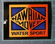 "Vintage 80's surf / surfing sticker, ""Hawaiian Moves - warer sport"" clothing NOS"