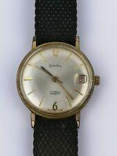 Fecha de trabajo 21 joyas Vintage Sandoz Reloj con movimiento FHF 73-4N (D62)
