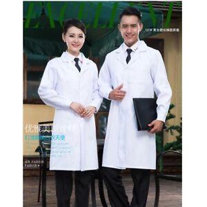 Nurse Doctor Dress Lab Smock Long Coats Hospital Overalls Medical Work Clothing