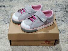 Toddler Girls Shoes Size 7 See Kai Run Basics Monterey II Grey Pink Stars NIB