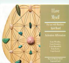 """I Love Myself Grid Card 4x6"""" Heavy Cardstock For Use with Healing Crystals Ego"""
