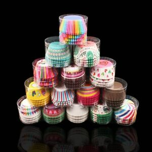 100Pc/Set Paper Cake Forms Cupcake Liner Baking Muffin Box Cup Case Party Tray