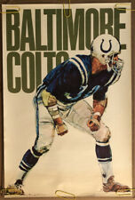Original Vintage Poster Nfl Football Memorabilia Sports Pin Up Baltimore Colts