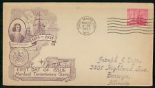 US FDC 1934 COVER MARYLAND STATE kkm80067