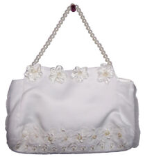Wedding Bridal Communion White Embellished Money Hand Bags Purses (MB57070D ^*)