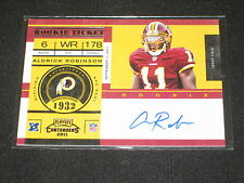 ALDRICK ROBINSON REDSKINS 2011 PANINI ROOKIE SIGNED AUTOGRAPHED CERTIFIED CARD