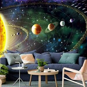 Outer Space Galaxy Universe Planets Stars Solar System Tapestry Wall Hanging