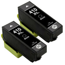 2 Black High Yield Ink Cartridges for T410XL 410XL 410 Epson Expression XP-640