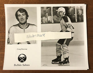 Vintage Buffalo Sabres Team Issued Photo Craig Ramsay Buffalo Memorial AUD
