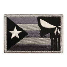 Puerto Rico Flag Punisher Morale Hook Fastener ACU Patch (PR10) BY MILTACUSA