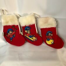 3 Fievel An American Tail Christmas Stockings 1986 MCDONALDS