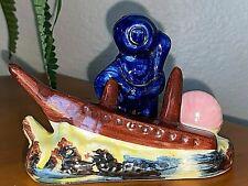 Vintage Aquarium Ceramic Ornament Decor Deep Sea Diver & Shipwreck