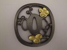 Japanese Sword Collar- Tsuba (Cherry Watermark)