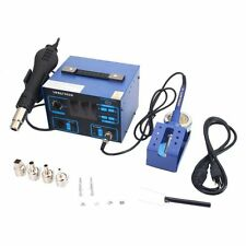 2 in 1 Soldering Rework Station Hot Air & Iron 992D + 4 Nozzles NEW Solder NEW