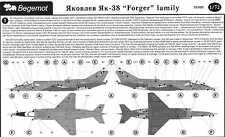 Begemot Decals 1/72 YAKOVLEV YAK-38 FORGER Family