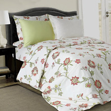 """LikeaHome Floral Duvet Cover Set & Fitted Sheet 12"""" Deep Pocket - 100% Cotton on"""