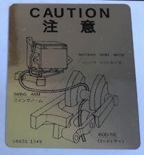 KAWASAKI KR250 TANDEM TWIN BATTERY CAUTION WARNING DECAL
