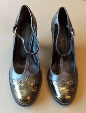 NEW Size 38 Vincenza Brazilian Brown, Black & Gold Leather Shoes